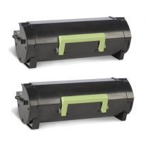Compatible Multipack Lexmark MS410dn Printer Toner Cartridges (2 Pack) -50F2H0E