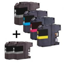 Compatible Multipack Brother MFC-J4610DW Printer Ink Cartridges (6 Pack) -LC127XLBK