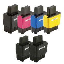 Compatible Multipack Brother MFC-620CN Printer Ink Cartridges (6 Pack) -LC900BK