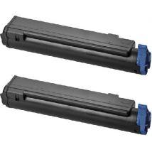Compatible Multipack OKI B430DN Printer Toner Cartridges (2 Pack) -43979102