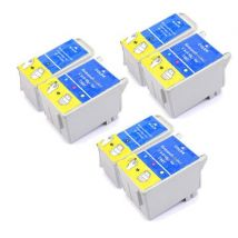 Compatible Multipack Epson Stylus C62 Printer Ink Cartridges (6 Pack) -C13T04014010