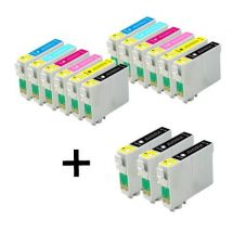 Compatible Multipack Epson Stylus Photo R330 Printer Ink Cartridges (15 Pack) -C13T04814010
