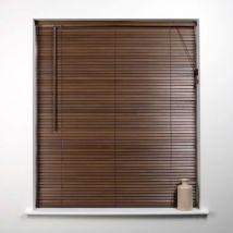 Universal 135cm x 27mm Slat Walnut Wood Venetian Blind