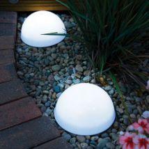 LED Dome Solar Garden Lights 2 Pack