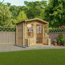 Mercia 19mm Log Cabin with Veranda - 2.7 x 2.5m