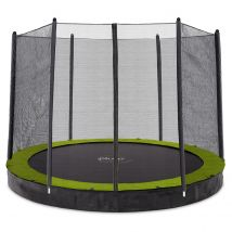 Plum 10ft Circular In Ground Trampoline with Enclosure