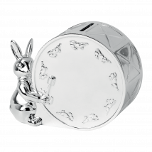 Bunnykins Silver Money Box By Royal Doulton | 2.5 in W x 5.2 in H