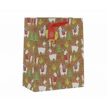 Christmas Llama Gift Bag Large