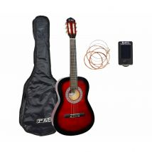 3rd Avenue Full Size Acoustic Guitar Pack, Red