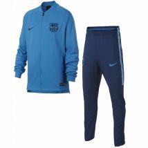 2018-2019 Barcelona Nike Squad Knit Tracksuit (Blue) - Kids