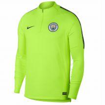 2018-2019 Man City Nike Training Drill Top (Volt)