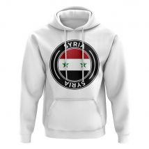 Syria Football Badge Hoodie (White)