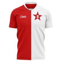 2020-2021 Slavia Prague Home Concept Football Shirt