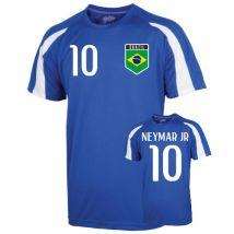 Brazil Sports Training Jersey (neymar Jr 10) - Kids