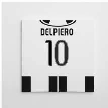 2016-2017 Juventus Canvas Print (Del Piero 10)
