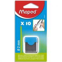 Mines de rechange Maped pour compas - pointe 2 mm - blister de 10 mines