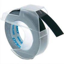 Ruban pour pince à marquer Dymo - 9 mm x 3 m - blanc sur noir - S0898130