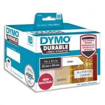 Etiquettes Dymo Labelwriter - durable - noir/blanc - 25 x 89 mm - rouleau de 700