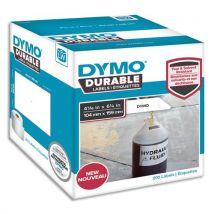 Etiquettes Dymo Labelwriter - durable - noir/blanc - 104 x 159 mm - rouleau de 200