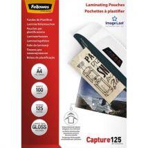 Pochettes Fellowes Imagelast - A4 - 125 microns - boîte de 100