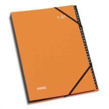 Trieur Numérique à élastique Extendos Mon Dossier - en balacron - 32 compartiments - orange