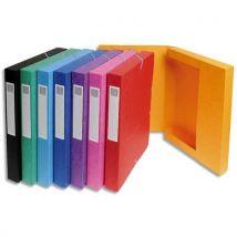 Boîte de classement Exacompta Exabox - en carte lustrée 7/10e - dos 2,5 cm - coloris assortis - Lot de 8