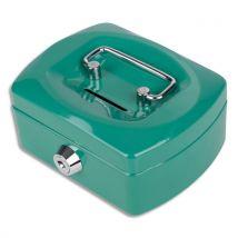 Caissette à monnaie Pavo 12,5cm fente d'insertion+6 compartiments internes - vert glossy