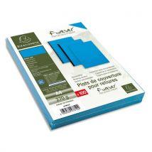 Plats de couvertures rigides Exacompta Forever - 270 g - A4 - grain cuir - certifié Ange Bleu - bleu - paquet de 100