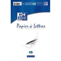 Bloc papier 50 feuilles velin 80 grammes Estree - format 14,8 x 21 cm uni - Lot de 10