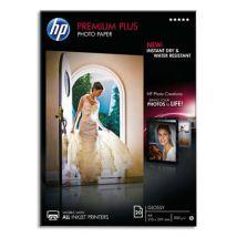 Papier photo Premium Plus HP CR677A - 10 x 15 cm - 300 g - finition brillante - boîte de 25 feuilles