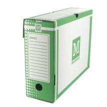 Boîtes à archives - carton rigide - dos 10cm - vert - paquet de 25