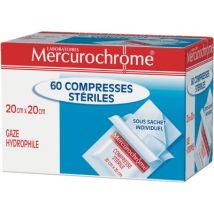 Compresses stériles Mercurochrome - 20x20cm - boîte de 60