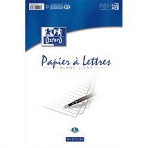 Bloc de 50 feuilles de papier à lettres Oxford - 80g - ligné - 21x29,7 cm