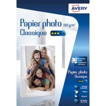 Papier photo brillant Avery - 10x15cm - jet d'encre - 180 g - 80 feuilles