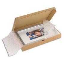 Boîte postale extra-plate en carton brun - L43 x H5 x P31 cm
