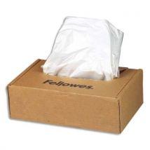 Sacs Fellowes pour destructeurs de documents de 53 à 75 litres - paquet de 50 sacs