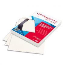 Plats de couverture Pergamy - A4 - grain cuir - 250gr - boîte de 100 - blanc