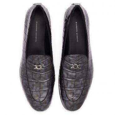 Giuseppe Zanotti BIZET Mens Loafers Grey
