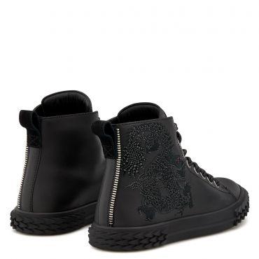 Giuseppe Zanotti BLABBER Mens Mid top sneakers Black