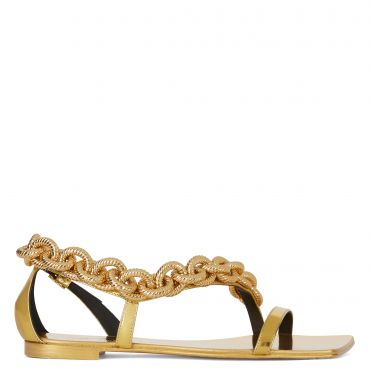 Giuseppe Zanotti AGATA Womens Flats Gold