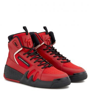 Giuseppe Zanotti TALON Mens High top sneakers Red