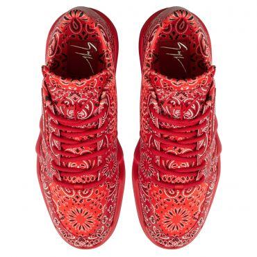 Giuseppe Zanotti TALON Mens Low top sneakers Red